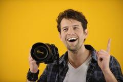 De fotograaf heeft een idee of een inspiratie Royalty-vrije Stock Fotografie
