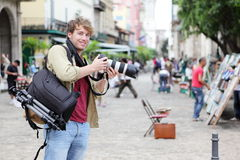 De fotograaf van de reis, Havana, Cuba Royalty-vrije Stock Foto