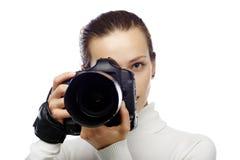 De fotograaf van de schoonheid stock fotografie