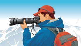 De fotograaf van de sport vector illustratie