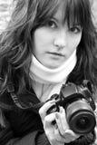 De fotograaf van de vrouw Royalty-vrije Stock Fotografie