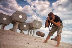 De fotograaf van Futurist Stock Foto's