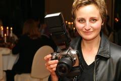 De fotograaf van het huwelijk Stock Foto's