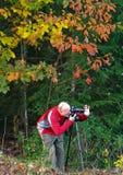 De Fotograaf van het landschap Stock Afbeeldingen