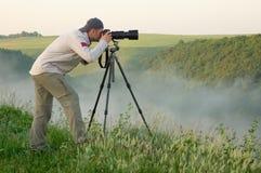 De fotograaf van het landschap Stock Fotografie