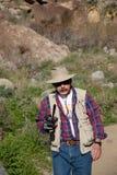 De fotograaf van het landschap stock foto
