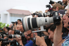 De fotograaf woont ` in Fade Aus Dem Nichts ` bij royalty-vrije stock fotografie