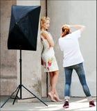 De fotograafwerken Stock Fotografie