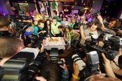 De fotografen fotograferen cake bij presentatie Royalty-vrije Stock Fotografie