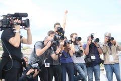 De fotografen wonen ` bij Brandend ` Photocall royalty-vrije stock fotografie