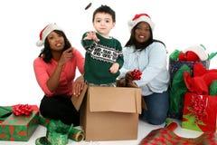 De Fotografie van de voorraad: De Scène van Kerstmis Stock Afbeeldingen