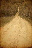 De fotografie van Grunge van landelijke weg Stock Fotografie