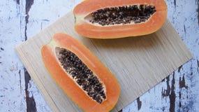 De fotografie van het papajavoedsel jpg Stock Afbeeldingen