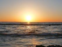 De fotografie van het strandlandschap, op de zuidelijke kust San Diego, Crystal Cove, Santa Barbara, Kanaaleilanden Catalina Isl  royalty-vrije stock fotografie