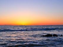 De fotografie van het strandlandschap, op de zuidelijke kust San Diego, Crystal Cove, Santa Barbara, Kanaaleilanden Catalina Isl  royalty-vrije stock foto