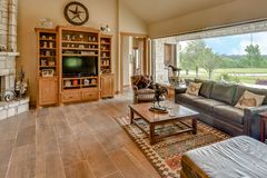 De Fotografie van Texas Mini Farm /Ranch Real Estate royalty-vrije stock foto
