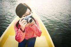 De Fotografieconcept van de rondvaart Reizend Vakantie royalty-vrije stock foto's