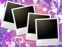De fotokaders betekent Valentine Day And Heart Royalty-vrije Stock Foto