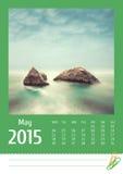 de fotokalender van 2015 kan Stock Fotografie