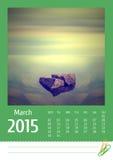 de fotokalender van 2015 maart Stock Afbeeldingen