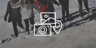 De Fotoportret die van de fotografiecamera Concept fotograferen royalty-vrije stock foto