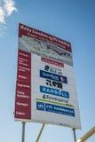 De fotoreeks, bouwt nieuw winkelcentrum halden binnen (1) stock afbeelding