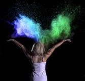 De Fotospruit van het kleurenpoeder Stock Afbeeldingen