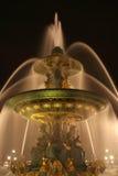 协和飞机de fountain la巴黎安排海运 免版税库存照片