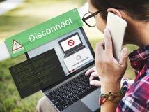 De fout maakt AbEnd van Voorzichtigheidsinaccesible Concept los royalty-vrije stock fotografie