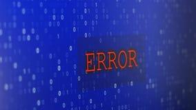 De fout van computergegevens stock video