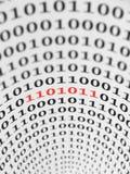 De Fout van de binaire Code stock illustratie