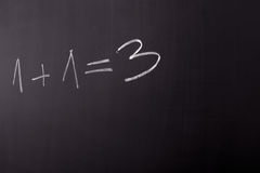 De fout van Math Stock Foto