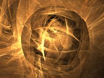 De fractal Gouden bol Royalty-vrije Stock Fotografie