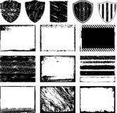 De frames en de achtergronden van Grunge Stock Afbeelding
