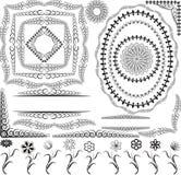 De frames en de bloemen van grenzen Royalty-vrije Stock Afbeelding