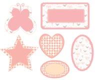 De frames van de baby roze reeks Royalty-vrije Stock Afbeelding