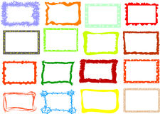 De frames van de foto Stock Afbeeldingen