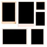 De Frames van de foto die van Originele Oude foto's worden afgetast Stock Afbeeldingen