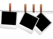 De frames van de foto op kabel Royalty-vrije Stock Foto