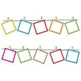 De frames van de foto op kabel Royalty-vrije Stock Fotografie