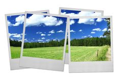 De frames van de foto op wit Royalty-vrije Stock Fotografie