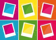 De Frames van de foto over verschillende kleurenachtergronden Royalty-vrije Stock Afbeelding