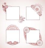 De Frames van de henna Royalty-vrije Stock Fotografie