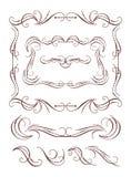De frames van de kalligrafie elementen royalty-vrije illustratie