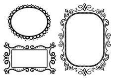 De frames van de krabbel Stock Foto's
