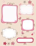 De frames van de krabbel Stock Fotografie