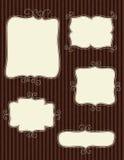 De frames van de krabbel royalty-vrije illustratie