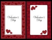 De frames van de valentijnskaart Stock Foto