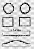 De frames van Grunge Stock Afbeeldingen