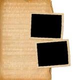 De frames van Grunge van oude documenten Stock Afbeeldingen